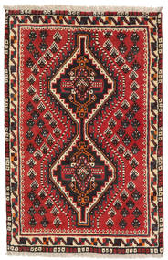 Shiraz Vloerkleed 79X120 Echt Oosters Handgeknoopt Donkerbruin/Roestkleur (Wol, Perzië/Iran)