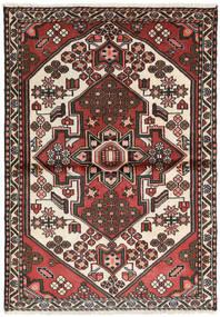 Hamadan Rug 102X145 Authentic  Oriental Handknotted Dark Grey/Light Brown (Wool, Persia/Iran)