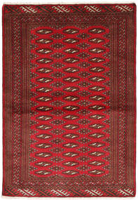 Turkaman Rug 101X147 Authentic  Oriental Handknotted Dark Red/Crimson Red (Wool, Persia/Iran)