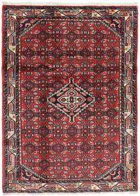 Hamadan Matto 110X150 Itämainen Käsinsolmittu Tummanruskea/Tummanpunainen (Villa, Persia/Iran)