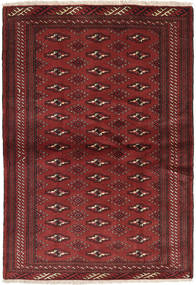 Turkaman Rug 100X143 Authentic  Oriental Handknotted Dark Red (Wool, Persia/Iran)