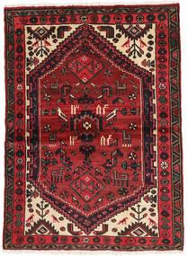 Hamadan Matto 102X139 Itämainen Käsinsolmittu Tummanpunainen/Musta (Villa, Persia/Iran)