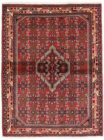 Hamadan Rug 104X137 Authentic  Oriental Handknotted Dark Red/Brown (Wool, Persia/Iran)