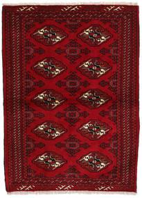 Turkaman Tapis 102X143 D'orient Fait Main Rouge Foncé/Marron Foncé (Laine, Perse/Iran)