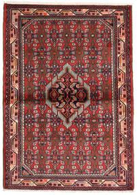 Hamadan Tapis 107X152 D'orient Fait Main Rouge Foncé/Rouille/Rouge (Laine, Perse/Iran)