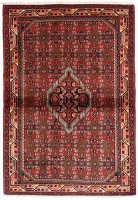 Hamadan Rug 104X150 Authentic  Oriental Handknotted Dark Red/Rust Red (Wool, Persia/Iran)