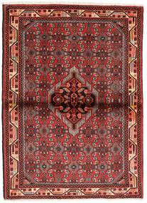 Hamadan Matto 108X148 Itämainen Käsinsolmittu Tummanpunainen/Ruoste (Villa, Persia/Iran)