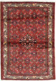 Hamadan Covor 104X147 Orientale Lucrat Manual Maro Închis/Maro (Lână, Persia/Iran)