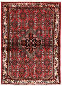 Hamadan Dywan 106X144 Orientalny Tkany Ręcznie Ciemnoczerwony/Rdzawy/Czerwony (Wełna, Persja/Iran)