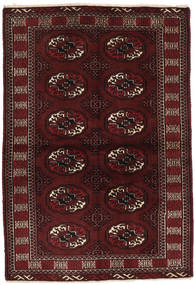 Turkaman Rug 98X143 Authentic  Oriental Handknotted Dark Brown/Dark Red (Wool, Persia/Iran)