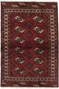 Turkmeński Dywan 96X136 Orientalny Tkany Ręcznie Ciemnoczerwony (Wełna, Persja/Iran)