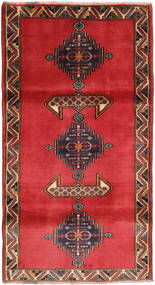 Kaszkaj Dywan 110X204 Orientalny Tkany Ręcznie Rdzawy/Czerwony/Ciemnoczerwony (Wełna, Persja/Iran)