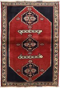 Ghashghai Matto 108X158 Itämainen Käsinsolmittu Tummanharmaa/Ruoste (Villa, Persia/Iran)