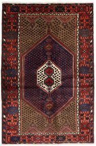 Hamadán Szőnyeg 134X200 Keleti Csomózású Sötétpiros (Gyapjú, Perzsia/Irán)