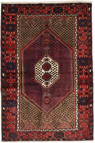 Hamadan Matto 136X200 Itämainen Käsinsolmittu Tummanpunainen (Villa, Persia/Iran)