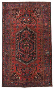 Hamadan Matta 136X235 Äkta Orientalisk Handknuten Mörkröd/Svart (Ull, Persien/Iran)