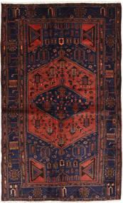 Hamadan Matto 142X231 Itämainen Käsinsolmittu Tummanvihreä/Tummanpunainen (Villa, Persia/Iran)