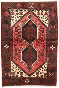 ハマダン 絨毯 97X144 オリエンタル 手織り 茶/黒 (ウール, ペルシャ/イラン)