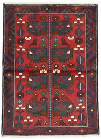 Hamadan Rug 108X146 Authentic  Oriental Handknotted Dark Grey/Rust Red (Wool, Persia/Iran)