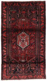 Hamadan Rug 107X190 Authentic  Oriental Handknotted Dark Red (Wool, Persia/Iran)