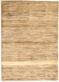 Gabbeh Persia Rug 104X145 Authentic Modern Handknotted Light Brown/Dark Beige (Wool, Persia/Iran)