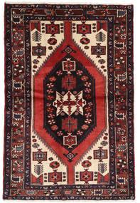 Hamadan Matta 147X217 Äkta Orientalisk Handknuten Mörkröd/Beige (Ull, Persien/Iran)