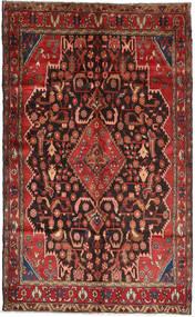 Hamadan Matto 147X240 Itämainen Käsinsolmittu Tummanpunainen/Ruskea (Villa, Persia/Iran)