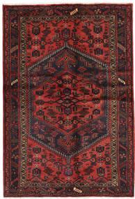 Hamadan Matta 131X203 Äkta Orientalisk Handknuten Mörkröd/Svart (Ull, Persien/Iran)