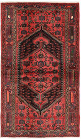 Hamadan Rug 125X210 Authentic  Oriental Handknotted Dark Red/Dark Brown (Wool, Persia/Iran)