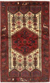 Hamadan Teppich  118X197 Echter Orientalischer Handgeknüpfter Dunkelrot/Dunkelbraun (Wolle, Persien/Iran)