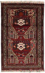 Beluch Matto 108X174 Itämainen Käsinsolmittu Tummanpunainen/Vaaleanruskea (Villa, Persia/Iran)