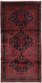 Hamadan Teppe 104X205 Ekte Orientalsk Håndknyttet Mørk Rød/Mørk Brun (Ull, Persia/Iran)