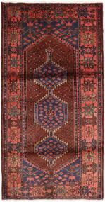 Hamadan Covor 108X208 Orientale Lucrat Manual Roșu-Închis/Maro (Lână, Persia/Iran)