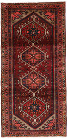 Hamadan Alfombra 104X213 Oriental Hecha A Mano Rojo Oscuro/Marrón Oscuro (Lana, Persia/Irán)