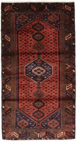 Hamadan Matto 113X208 Itämainen Käsinsolmittu Musta/Tummanpunainen (Villa, Persia/Iran)