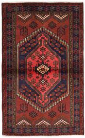 Hamadan Tapis 98X160 D'orient Fait Main Rouge Foncé/Noir (Laine, Perse/Iran)