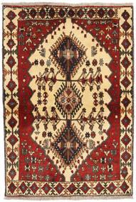 Ghashghai Matto 104X155 Itämainen Käsinsolmittu Vaaleanruskea/Tummanpunainen/Tummanruskea (Villa, Persia/Iran)