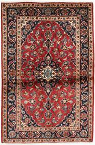 カシャン 絨毯 99X152 オリエンタル 手織り 濃い茶色/深紅色の (ウール, ペルシャ/イラン)