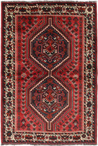 Shiraz Rug 108X156 Authentic  Oriental Handknotted Black/Dark Red (Wool, Persia/Iran)