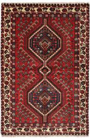 Shiraz Tapijt 103X154 Echt Oosters Handgeknoopt Donkerrood/Donkerbruin (Wol, Perzië/Iran)
