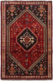 Shiraz Matto 112X174 Itämainen Käsinsolmittu Tummanpunainen/Tummanruskea (Villa, Persia/Iran)