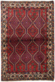 Shiraz Rug 100X145 Authentic  Oriental Handknotted Dark Red (Wool, Persia/Iran)