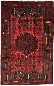 Hamadan Rug 120X195 Authentic  Oriental Handknotted Dark Red/Dark Brown (Wool, Persia/Iran)