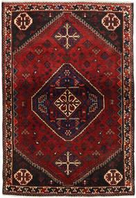Ghashghai Matto 106X155 Itämainen Käsinsolmittu Tummanpunainen/Musta (Villa, Persia/Iran)