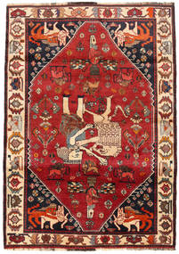 Qashqai Rug 110X160 Authentic  Oriental Handknotted Dark Red/Dark Brown (Wool, Persia/Iran)