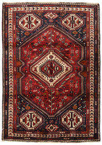 Qashqai Rug 117X165 Authentic  Oriental Handknotted Dark Red/Black (Wool, Persia/Iran)