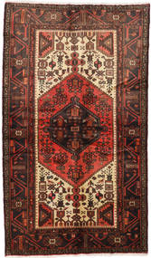 Hamadan Rug 126X218 Authentic  Oriental Handknotted Dark Red/Dark Brown (Wool, Persia/Iran)