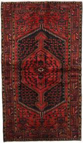 Hamadan Matto 126X214 Itämainen Käsinsolmittu Tummanpunainen/Tummanruskea (Villa, Persia/Iran)