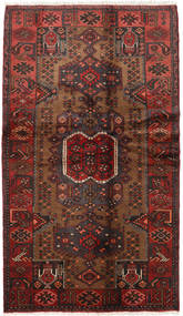 Hamadan Rug 115X202 Authentic  Oriental Handknotted Dark Brown/Dark Red (Wool, Persia/Iran)
