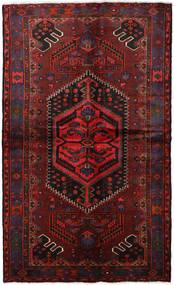 Hamadan Vloerkleed 137X230 Echt Oosters Handgeknoopt Donkerrood/Donkerbruin (Wol, Perzië/Iran)